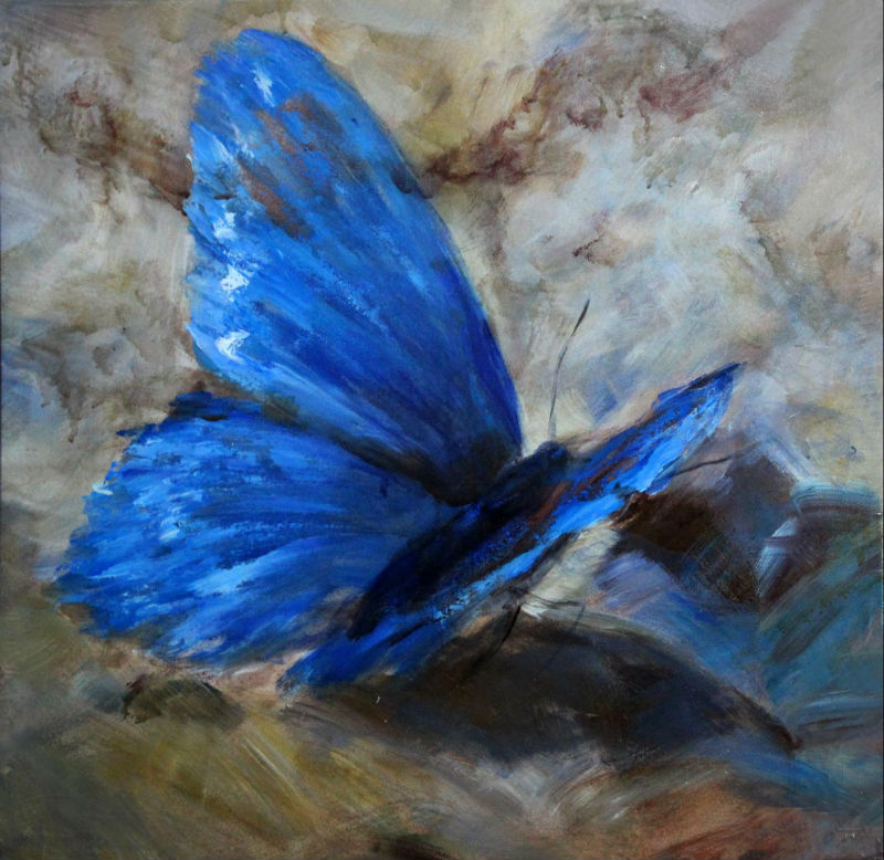 blue_butterfly_decorative_painting_new_design